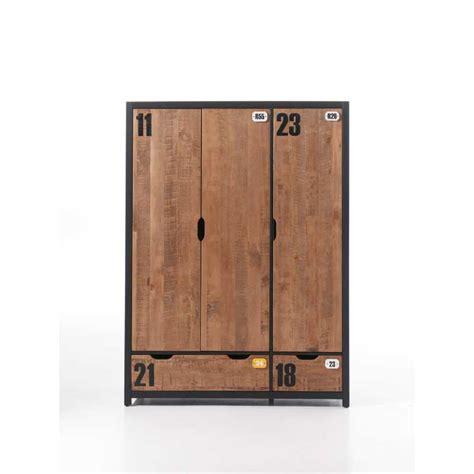 armoire chambre garcon armoire à 3 portes en bois massif pour chambre garçon
