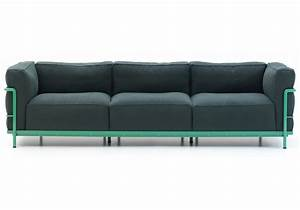 Sofas 3 2 : lc2 three seater sofa cassina milia shop ~ Indierocktalk.com Haus und Dekorationen