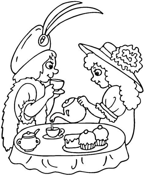 Fancy Nancy Tea Party Coloring Pages Coloring Pages