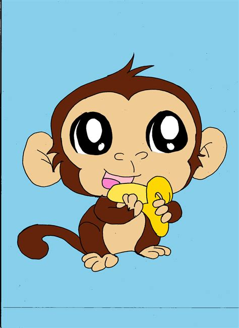 cute monkey drawing clipartsco