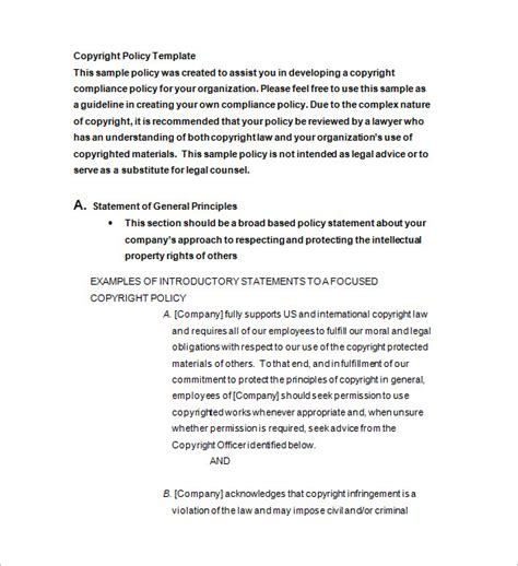 Copyright Notice Template  10+ Free Word, Excel, Pdf