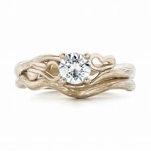 custom organic diamond solitaire engagement ring 102067 With organic wedding rings
