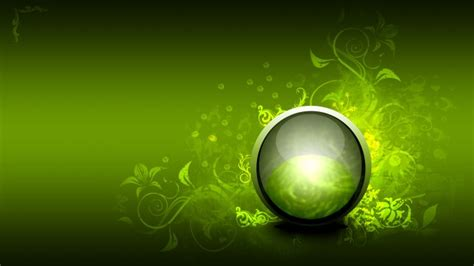 abstract vector orb green ball hd wallpaper