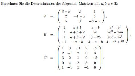 determinanten mit variablen berechnen mathelounge