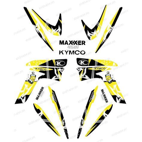 kit deco kymco kit decoration yellow idgrafix kymco 450 maxxer