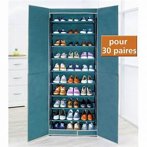 meuble rangement chaussures 30 paires With meuble chaussure grande capacite 13 etagere chaussures 30 paires