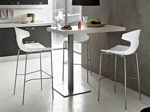 Chaise Pour Table Haute : table haute et chaises de bar cuisine en image ~ Teatrodelosmanantiales.com Idées de Décoration
