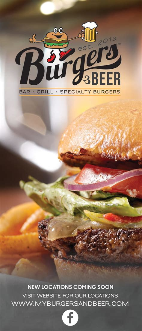 burgers beer bar grill specialty burgers