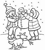 Coloring Winter Printable Pages sketch template