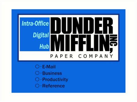 Dunder Mifflin Wallpaper Desktop Quot Desktop Background Quot Art Prints By Pickledbeets Redbubble