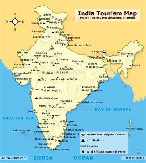 India Tourist Map  Tourist Places In India India