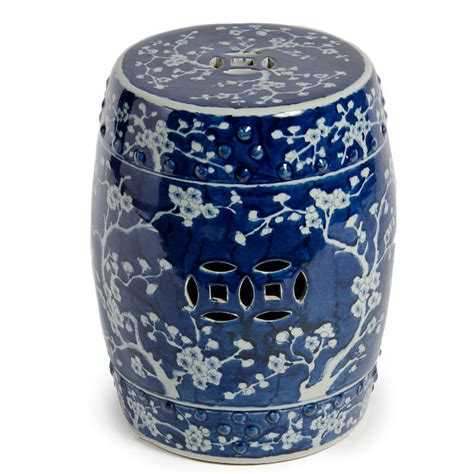 Garden Stool by Blue White Plum Garden Stool Ceramic End Table