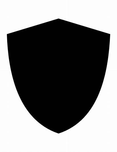 Shield Clipart Basic Transparent Siluet Clip Potter