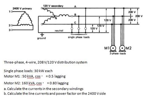 208v Receptacle Wiring Diagram by Solved Three Phase 4 Wire 208v 120 V Distribution Syste