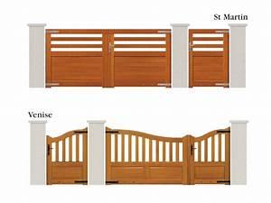 Portail En Bois Pas Cher : portail et portillon alu bois ou pvc en loir et cher ~ Melissatoandfro.com Idées de Décoration