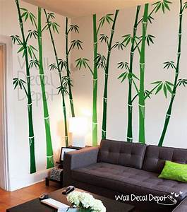 Bamboo wall decal tree wall decals wall sticker by for Bamboo wall art