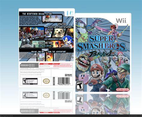 Super Smash Bros Brawl Wii Box Art Cover By Long Pal