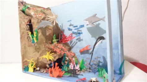 como hacer  ecosistema marino paso  paso youtube como hacer  ecosistema marino paso  paso