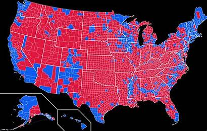 Election County Presidential Map States United Vote