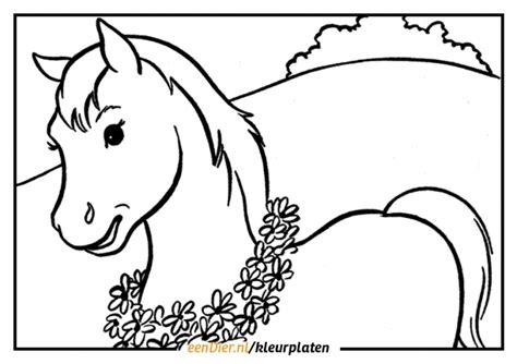 Springend Paard Kleurplaat by Kleurplaat Paard Gratis Paarden Kleurplaten