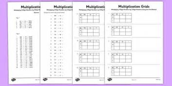 multiplication worksheets using grid method multiplying 3 digit numbers by 2 digit numbers using grid