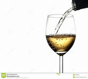 Pouring White Wine Into Glass Stock Image - Image: 27028261