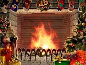 Christmas Living 3D Fireplace Screensaver free download ...