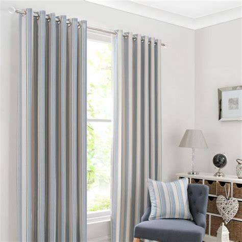 blue holkholm stripe curtain collection dunelm striped
