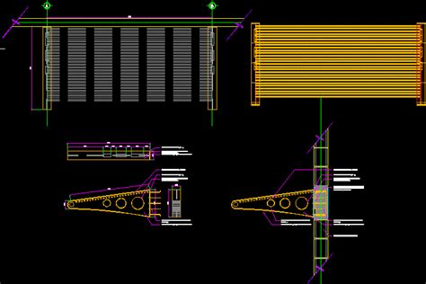 entrance awning commercial space steel beams ipr dwg block  autocad designs cad