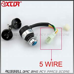 5 Wires Pin Ignition Key Switch Lock For Chinese 150cc