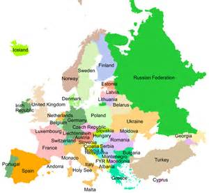 Map of European Union Countries