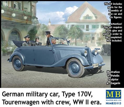 Mb German Military Car Type 170v Tourenwagen With Crew
