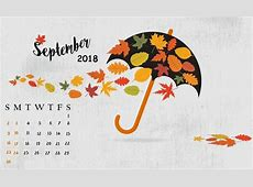 Cute September 2018 Calendar Template Paper Worksheets