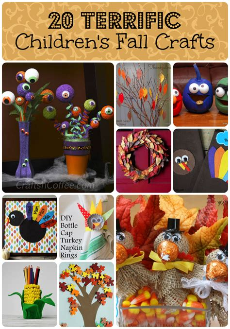 terrific childrens fall crafts tobethode