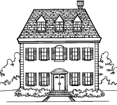 dessin maison a imprimer maison dessin a colorier
