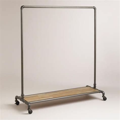 decorative metal garment floor rack 25 best ideas about pipe clothes rack on