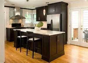 52, Dark, Kitchens, With, Dark, Wood, And, Black, Kitchen, Cabinets
