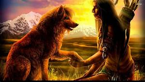 Image Gallery native american wolf wallpaper