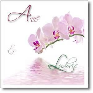 faire part mariage orchidã e faire part mariage branche d 39 orchidée se reflétant dans l 39 eau