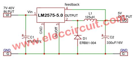 Circuit Simple Switcher Step Down Voltage Regulator