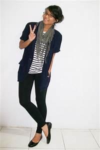 Blue Blazers Ts Shirts Black Leggings Gray Scarves Black Shoes   u0026quot;rainy seasonu0026quot; by tikachan ...