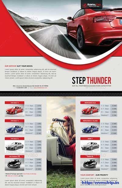 rent  car brochure print templates  fripin
