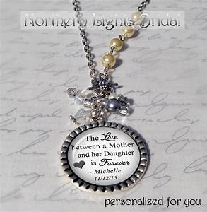 mother of the bride gift personalized necklace custom With wedding gift from mother to daughter