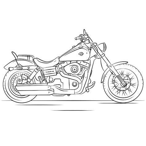Kleurplaat Crossmotors by Leuk Voor Harley Davidson