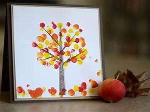 Blätter Basteln Herbst : baum herbst fingerfarbe bl tter malen und basteln ~ Lizthompson.info Haus und Dekorationen