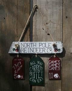 North, Pole, Reindeer, Co, Door, Decor
