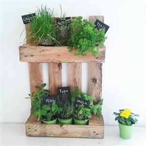 Mur De Fleur Artificielle : palette de bois recycl e plantes aromatiques artifleurs ~ Teatrodelosmanantiales.com Idées de Décoration