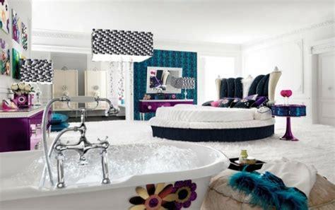 chambre avec lit rond chambre ado fille optez pour une déco moderne et colorée