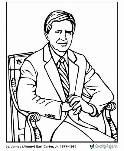 Coloring Presidents President Carter Pages Jimmy James