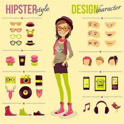 Hipster Vector Illustration Macrovector Freepik Headphones Isolated